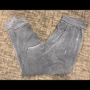 Free People Classic Jogger Grey Pocket Sweats La